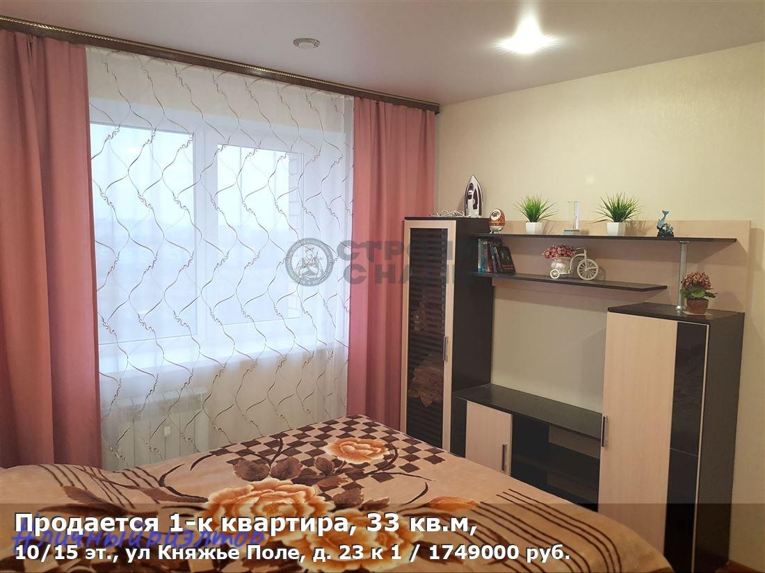 Продается 1-к квартира, 33 кв.м, 10/15 эт., ул Княжье Поле, д. 23 к 1