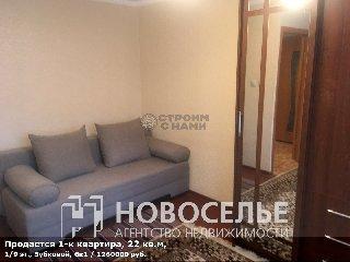 Продается 1-к квартира, 22 кв.м, 1/9 эт., Зубковой, 6к1