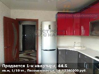 Продается 1-к квартира, 44.5 кв.м, 1/10 эт., Песоченская ул, 14