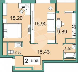 Продается 2-к квартира, 64.6 кв.м, 26/30 эт., Солотчинское ш, 6