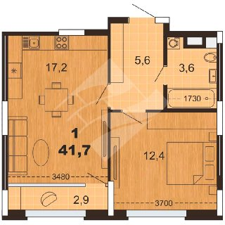 Продается 1-к квартира, 42 кв.м, 13/23 эт., Мервинская ул, 9а