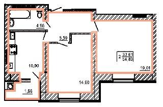 Продается 2-к квартира, 57 кв.м, 1/10 эт., Московская ул, 8к3