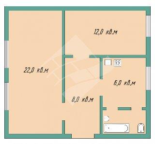 Продается 2-к квартира, 47.5 кв.м, 3/3 эт., Энгельса ул, 29