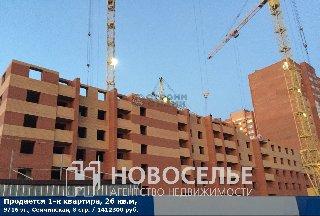 Продается 1-к квартира, 26 кв.м, 9/16 эт., Семчинская, 8 стр.