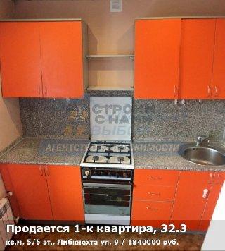 Продается 1-к квартира, 32.3 кв.м, 5/5 эт., Либкнехта ул, 9