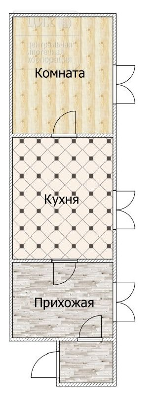 Продается 1-к квартира, 24.1 кв.м, 1/1 эт., ул. Электротяговая, 3
