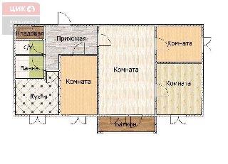Продается 4-к квартира, 60.5 кв.м, 5/5 эт., ул. Соколовская, 5 к.2