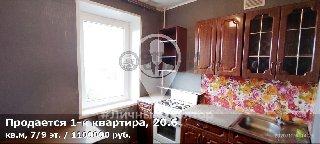 Продается 1-к квартира, 20.6 кв.м, 7/9 эт., ул Сельских Строителей, д. 6 к 1