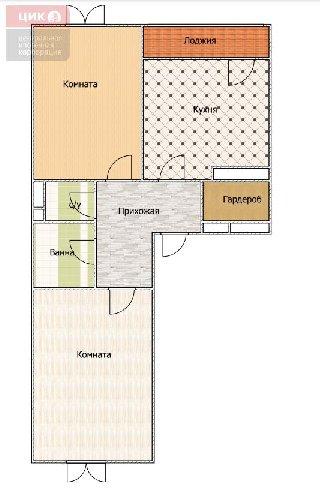 Продается 2-к квартира, 65.4 кв.м, 19/24 эт.