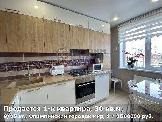 Продается 1-к квартира, 30 кв.м, 9/25 эт., Олимпийский городок мкр, 1