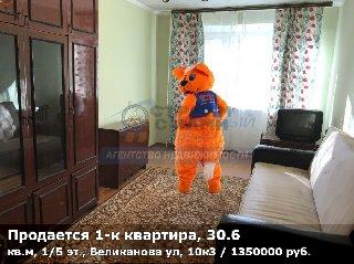 Продается 1-к квартира, 30.6 кв.м, 1/5 эт., Великанова ул, 10к3