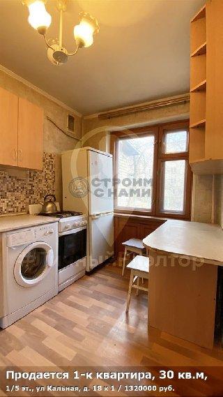 Продается 1-к квартира, 30 кв.м, 1/5 эт., ул Кальная, д. 18 к 1
