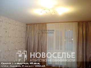 Сдается 1-к квартира, 48 кв.м, 1/10 эт., Новоселов, 37 корпус1
