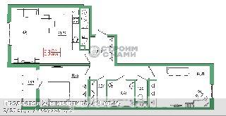 Продается 2-к квартира, 69 кв.м, 2/25 эт., ,