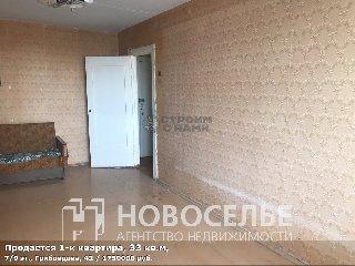 Продается 1-к квартира, 33 кв.м, 7/9 эт., Грибоедова, 42