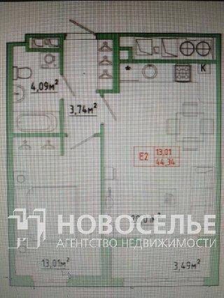 Продается 2-к квартира, 44 кв.м, 11/25 эт., Муромское шоссе, 20 к.1