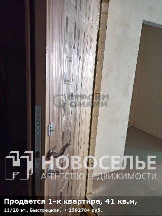 Продается 1-к квартира, 41 кв.м, 11/20 эт., Быстрецкая,