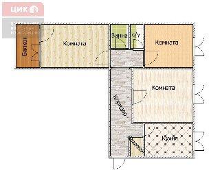 Продается 3-к квартира, 64.6 кв.м, 6/9 эт., ул. Новоселов, 19
