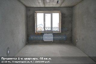Продается 1-к квартира, 40 кв.м, 2/10 эт., Птицеводов ул, 6