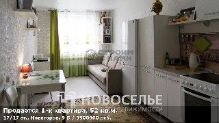 Продается 1-к квартира, 52 кв.м, 17/17 эт., Новаторов, 9 В