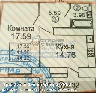 Продается 1-к квартира, 44.2 кв.м, 2/15 эт., Княжье Поле ул, 0к8