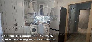 Сдается 1-к квартира, 52 кв.м, 1/10 эт., ул Грибоедова, д. 55