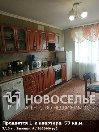 Продается 1-к квартира, 53 кв.м, 5/10 эт., Затинная, 9